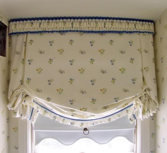 традиционная лондонская штора