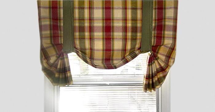шотландская клетка в расцветке английских штор