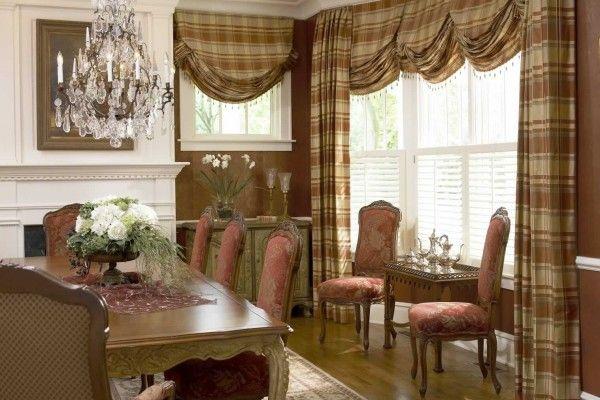 полосатые английские шторы