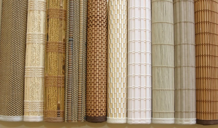 виды штор из бамбука