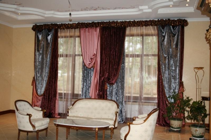 шторы из бархатной ткани