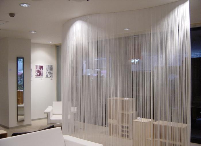 нитяные шторы белого цвета