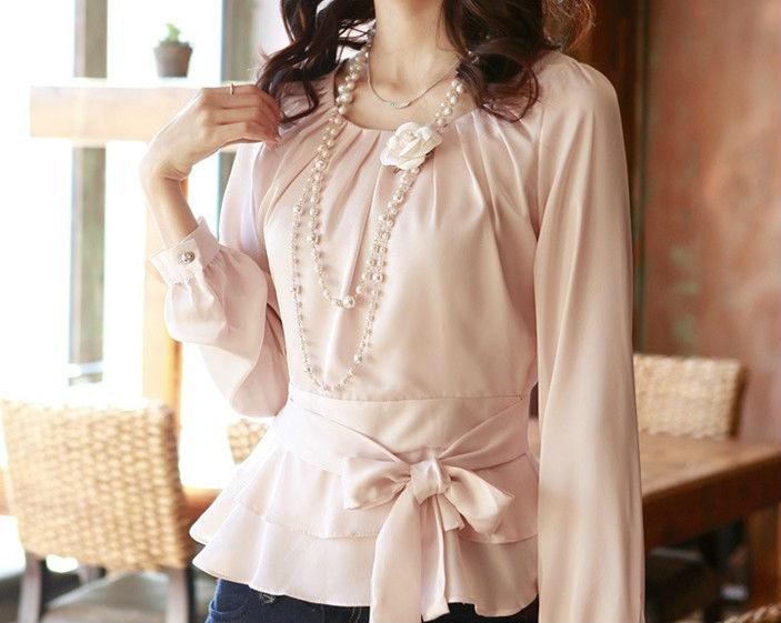 струящаяся легкая блузка из шифона