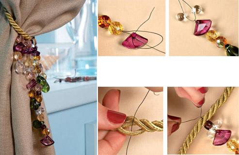 делаем шнур для штор своими руками - пошаговая интструкция