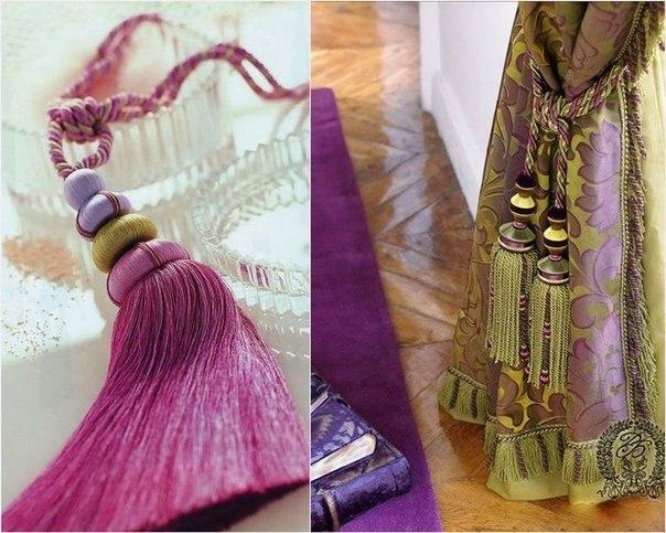 декоративный шнур для декора штор
