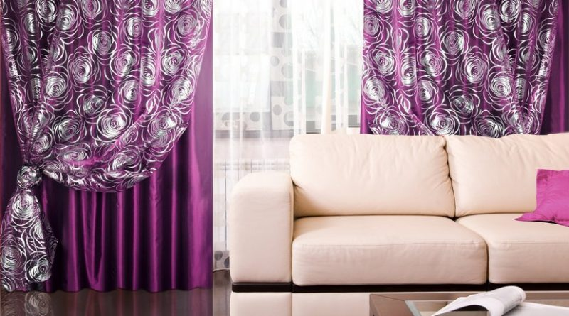 cortinas de color violeta - Cortinas Moradas
