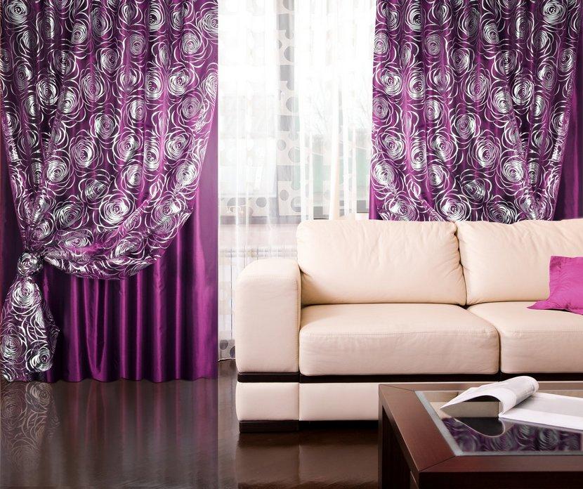 шторы фиолетового цвета