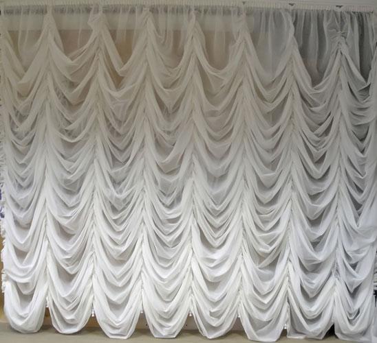 французская штора из вуали