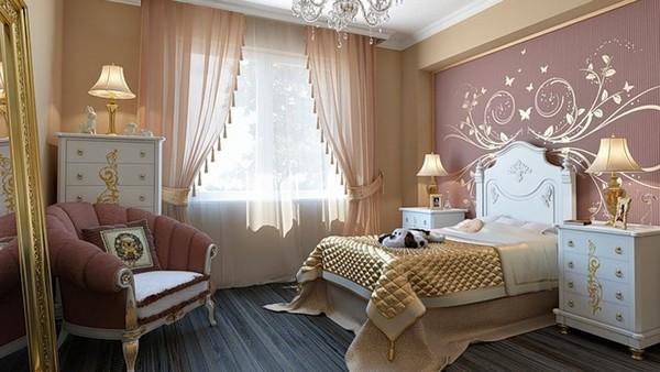 шторы и гардины в спальне