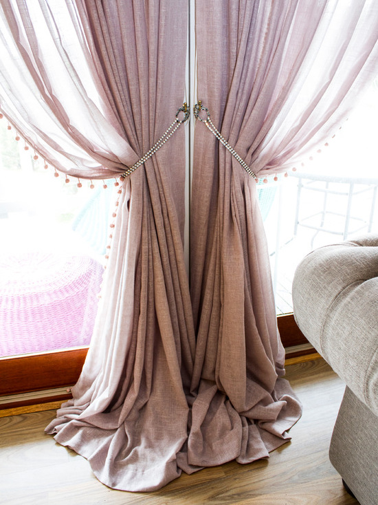 льняные шторы и тюль