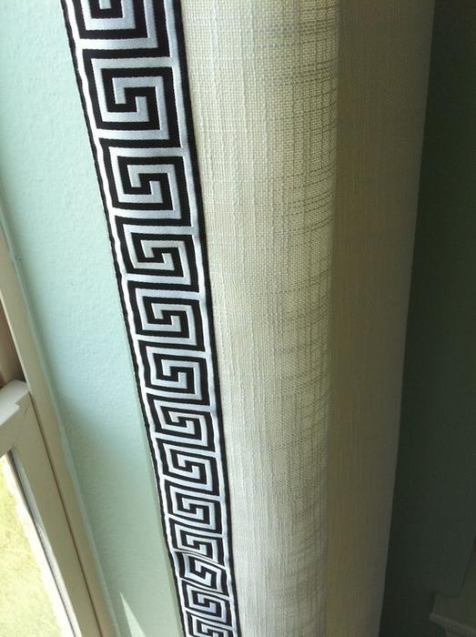 греческие шторы из льняной ткани