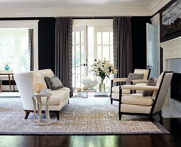 фото греческих штор в дизайне гостиной