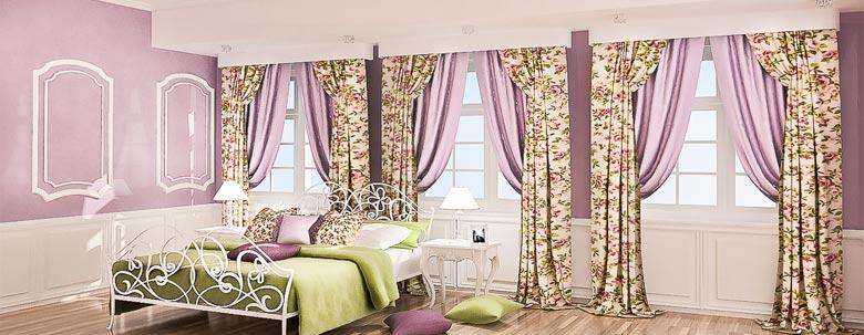 итальянские шторы с цветочным рисунком