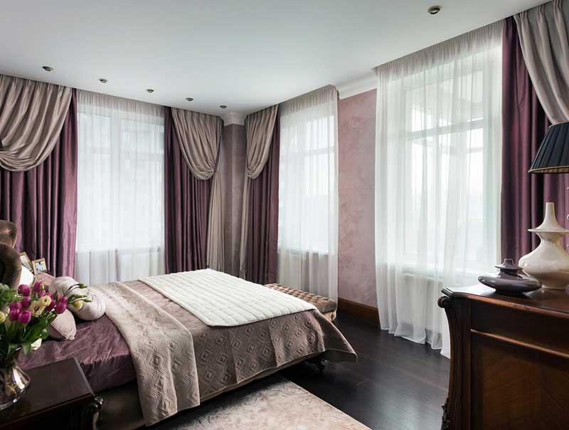 итальянские портьеры в спальне