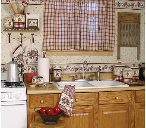 Шторы в стиле кантри для кухни своими руками