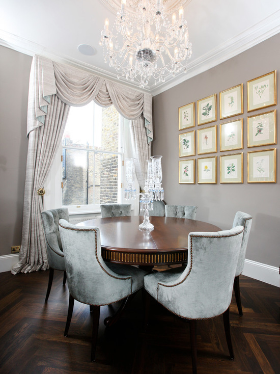 фото штор с ламбрекенами в столовой