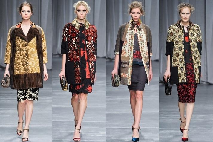 модели женской одежды из гобеленовой ткани
