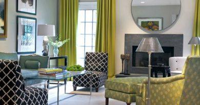 шторы оливкового цвета