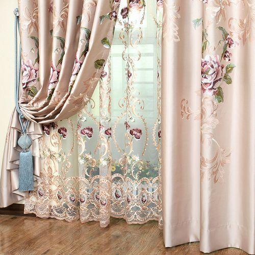 тюль и шторы из шелка