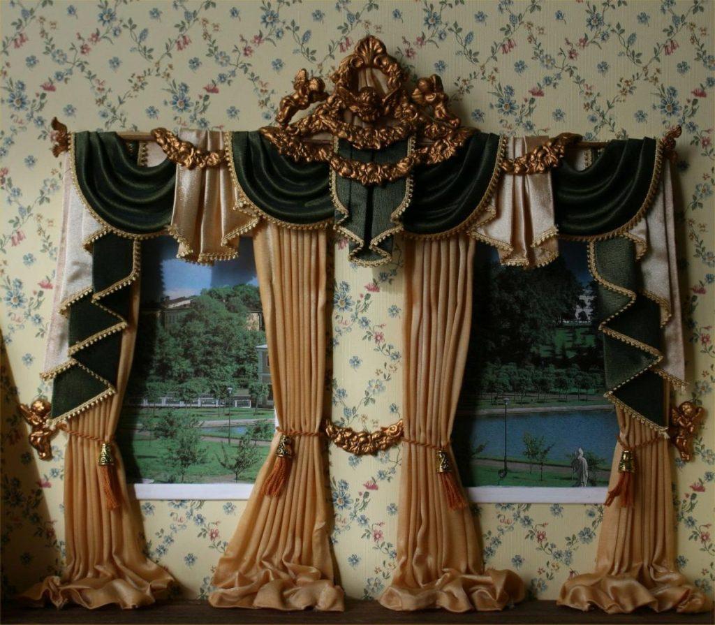 как выглядят шторы в стиле барокко