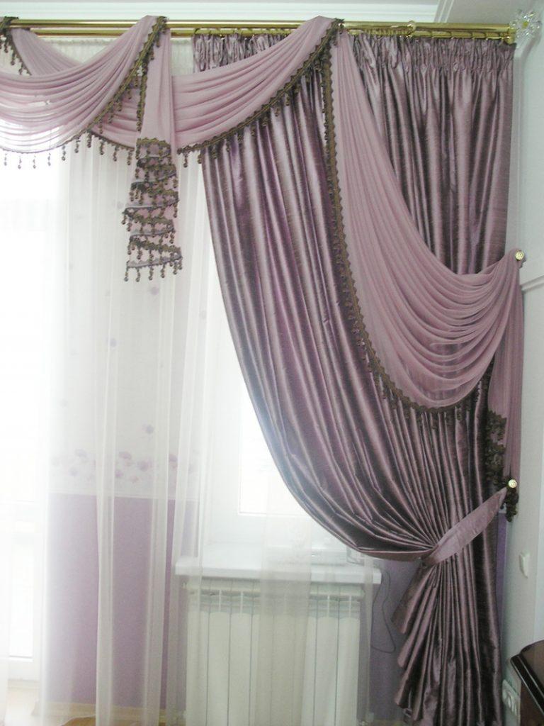 декоративное оформление гардин в спальне
