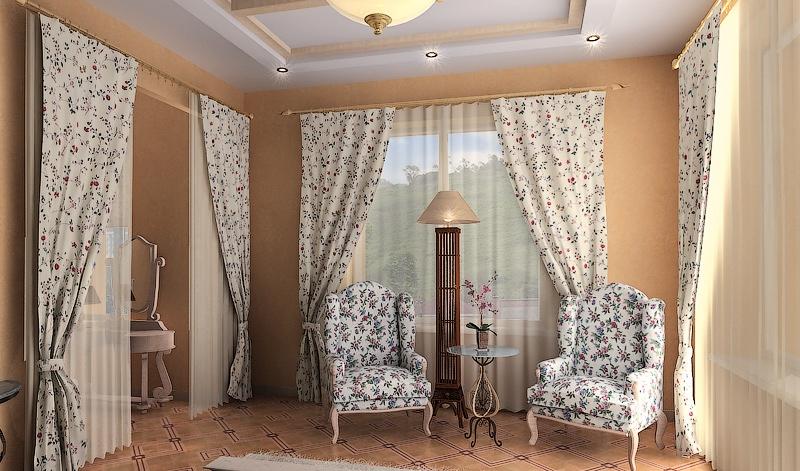 батистовая ткань в дизайне штор и обивки