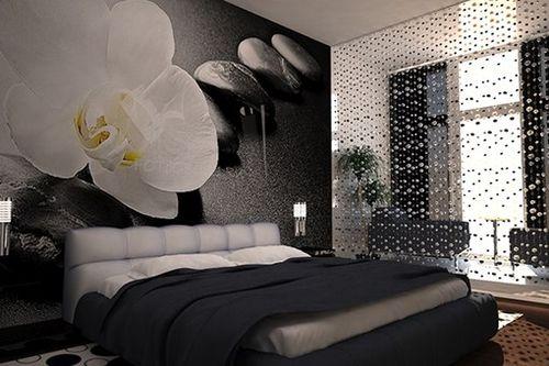 шторы из бусин между спальной и гостиной комнатами