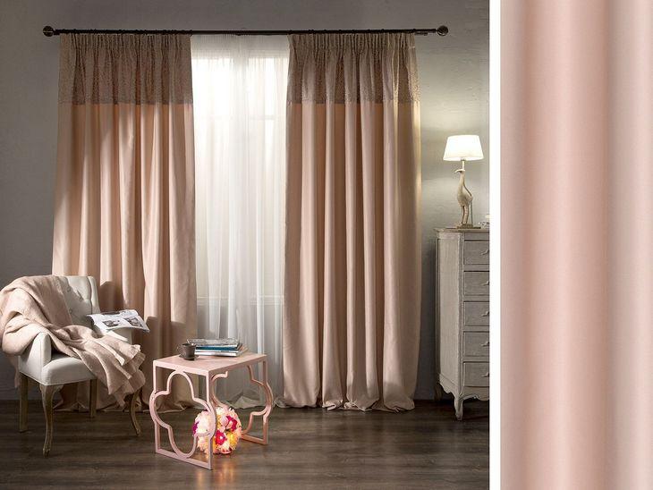 глянцевые шторы из ткани креп-атлас