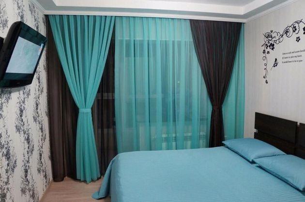 фото шифоновой шторы в спальне