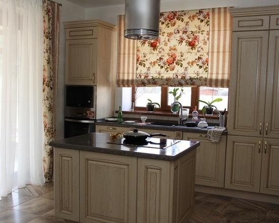 шторы в стиле прованс для кухни