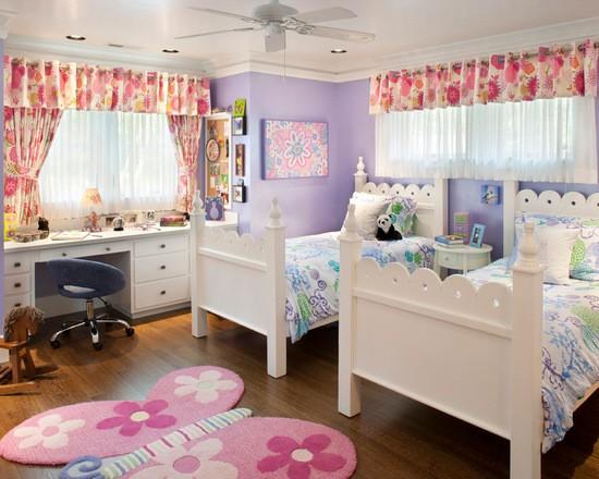 легкие занавески в детской комнате