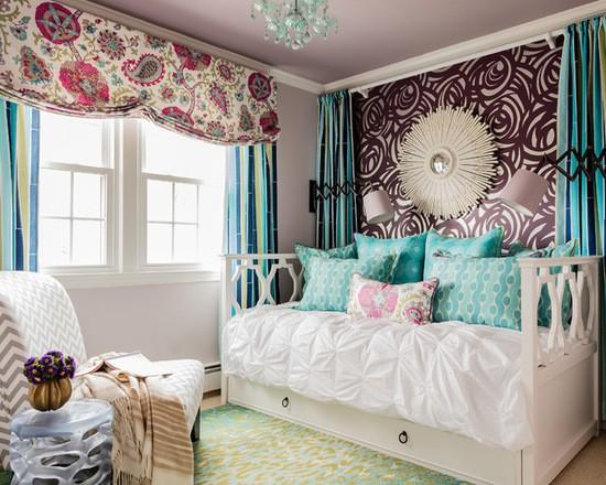 яркий дизайн и текстиль в детской комнате
