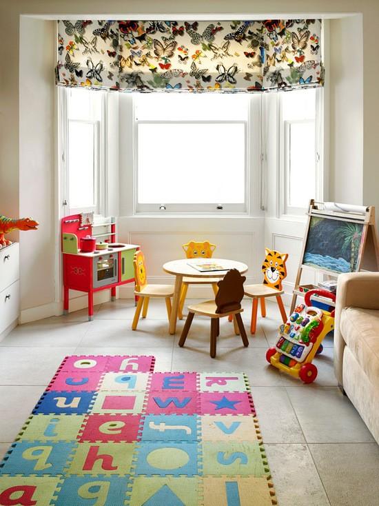 римская штора в детской