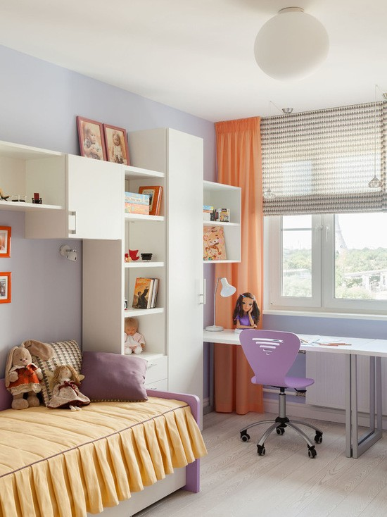 Дизайн детской комнаты для девочек 14 кв