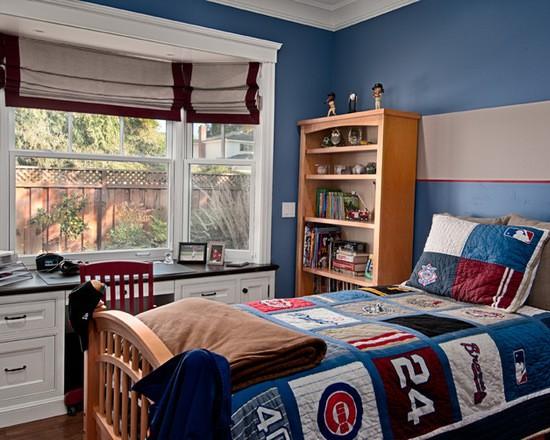римские шторы на эркерное окно в детской комнате
