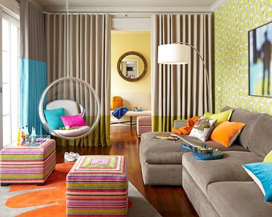 яркие краски в интерьере детской комнаты
