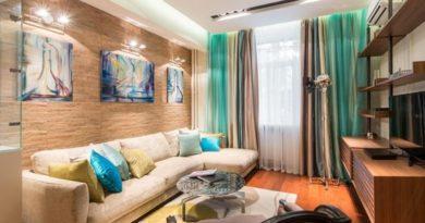 современные шторы в гостиной