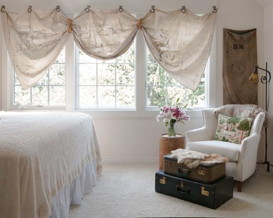Vælg gardiner i soveværelset - typer, farver, design