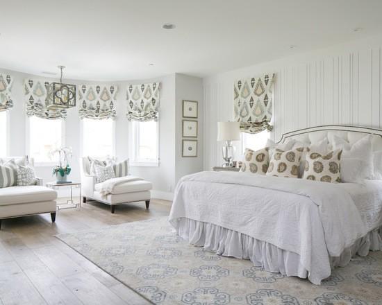 английская штора - фото в спальне
