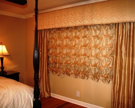 фото французской шторы в спальне