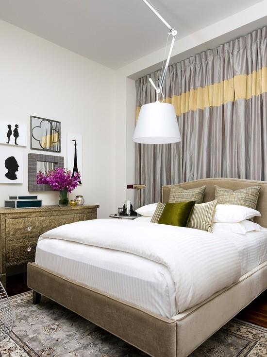 фото дизайна штор в спальной комнате