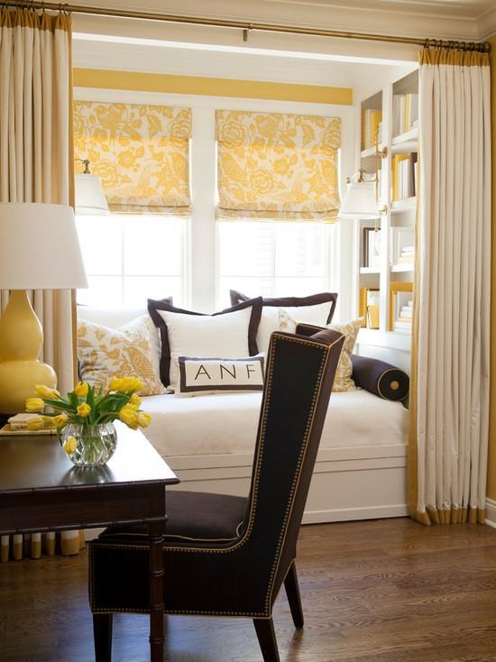 фото штор в интерьере спальни