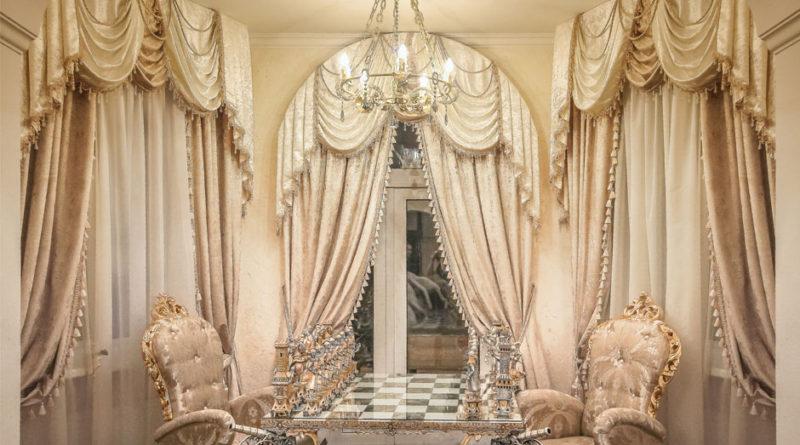 оформление штор в стиле барокко