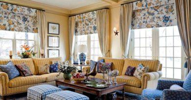 занавески и шторы в стиле кантри в интерьере