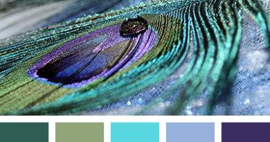цветовая палитра фиолетового цвета