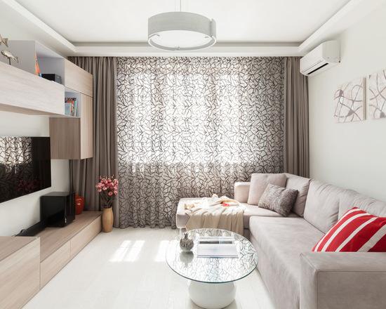 современный стиль для зала