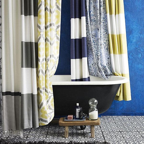 шторы для ванной из ткани