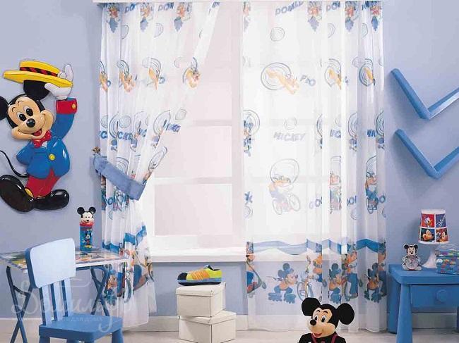 тюль для мальчика в детскую комнату