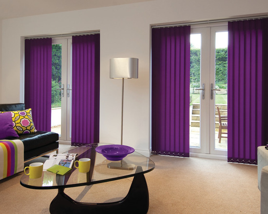 Фиолетовый цвет вертикальных жалюзи