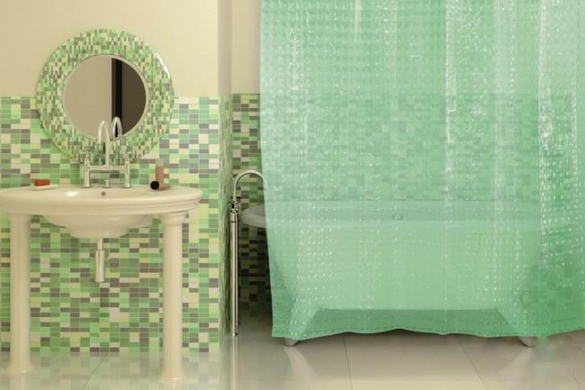 виниловая занавеска для ванной комнаты